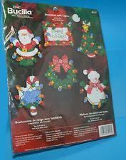 bucilla felt ornament kit snowman with lights set of 6 ornaments
