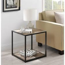 metal frame table and chairs mason ridge end table walmart furniture sleek and slim profile wood