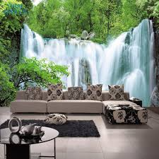 online get cheap 3d wall jungle murals aliexpress com alibaba group free shipping jungle waterfall tv background wall living room sofa 3d stereo photography wallpaper mural