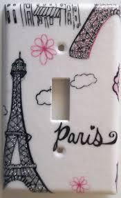 light switch covers eiffel tower paris pink glitter girls by