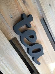 wood sign word tea wooden sign script home decor wall decor