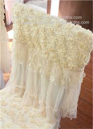 lace chair covers rosette openwork lace tablecloths and chair covers for wedding