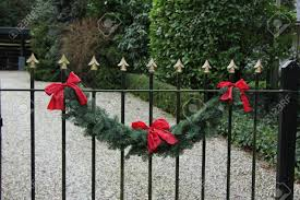 Christmas Fence Decorations Christmas Fence Decorations Home Design Inspirations