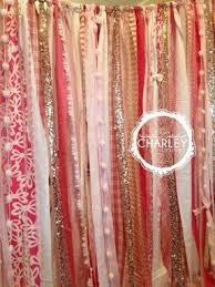 Pink Sparkle Curtains Gold Fabric Shower Curtain Foter