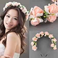 flower headband flower garland floral bridal headband hair band wedding wedding