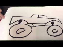how to draw a monster truck youtube