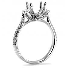 0 68ct art deco style diamond pave engagement ring setting cheap