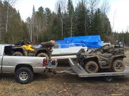 loading outlander into truck box can am atv forum