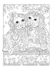 puppies swing playful puppies coloring book marjorie