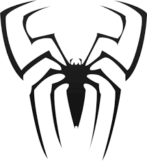 spiderman logo black white
