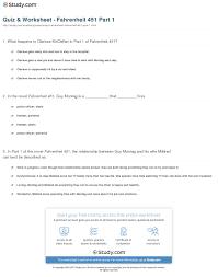 quiz u0026 worksheet fahrenheit 451 part 1 study com