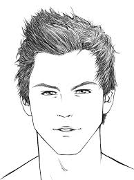 how to sketch a face how to draw hair male sharenoesis art