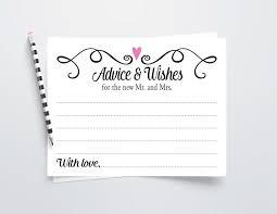 Wedding Wishes And Advice Cards Wedding Advice Cards Printable Wedding Wishes Cards Instant