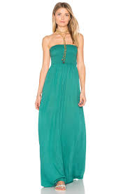 tiare hawaii kai strapless maxi dress in green lyst