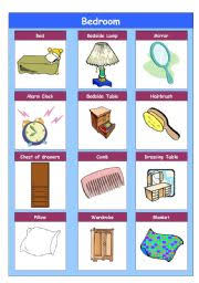 Things In A Bedroom English Teaching Worksheets The Bedroom