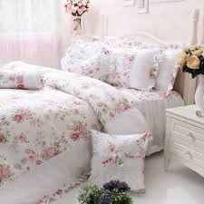 floral shabby chic bedding in the bedroom shabby chic