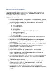 Job Description For Customer Service Associate Business Analyst Job Description Cld June2013