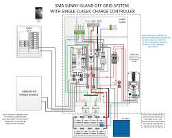 off grid floor plans pre wired sunny island 6048 inverter w cl150 controller real goods