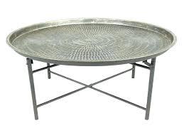 round metal side table metal side table legs round metal table coffee tables round metal