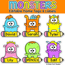 printable monster name tags 165 best monster themed classroom images on pinterest monsters