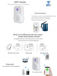 remote to turn off lights smart wifi socket plug wireless switch outlet compatible with alexa