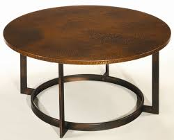 coffee table awesome round hammered metal coffee table