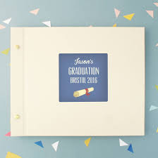 graduation photo album personalised graduation photo album by made by ellis