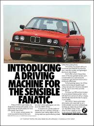 bmw ads introducing a driving machine for the sensible fanatic print ads