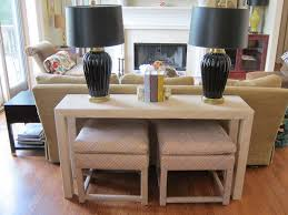 back of couch table console table with ottoman ideas jukem home design