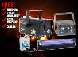 Halloween Fog Machine Halloween Blacklight U0026 Fog Machine Package Dj Halloween Lights
