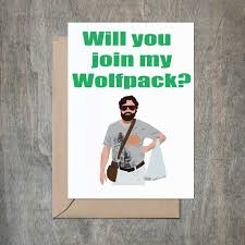 wedding card for groom will you join my wolfpack card will you be my groomsmen card g