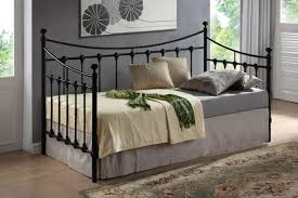 bedroom captivating new 3ft single size black metal day bed and