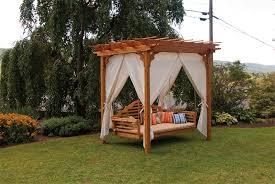 Red Cedar Pergola From DutchCrafters Amish Furniture - Cedar outdoor furniture
