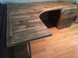 Curved Floor L L Shaped Curved Desk With Drawers By Reclaimtofame1 On Etsy