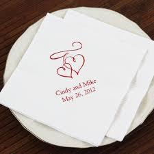 wedding napkins personalized bridal napkins