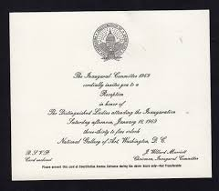 Inauguration Invitation Card Sample 1969 Richard Nixon Inaugural Reception Invitation