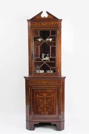 sold antique corner china cabinet 1945 made in canada estate close