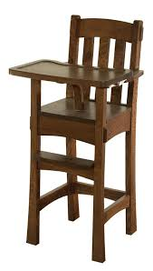 Antique Wood High Chair Modesto Wooden High Chair