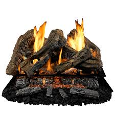 shop cedar ridge hearth 34 in 26 in vent free gas fireplace logs
