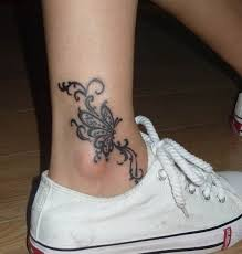 speedy blog tribal butterfly tattoo design on foot