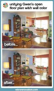 Paint Ideas For Open Living Room And Kitchen Helping Gwen To Unify Her Open Floor Plan With Her Favorite Paint