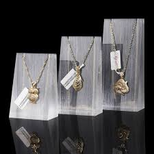 display holder necklace images Buy frosted white clear lot of 3 pendant display jpg