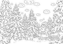 hard christmas coloring pages kids coloring
