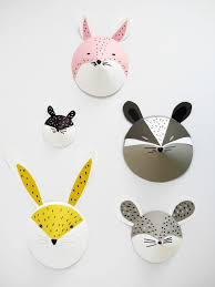 diy animal paper masks for fun or for the wall link on here