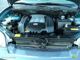 2003 hyundai santa fe gls 4wd 2 7 liter dohc 24 valve v6 engine