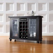 Compact Bar Cabinet Three Posts Shady Dale Bar Cabinet With Wine Storage Reviews