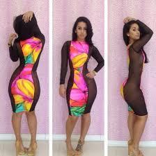 women black lace mesh bodycon long sleeve slim fit cocktail