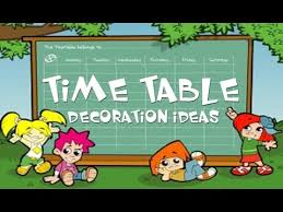 time table decoration ideas