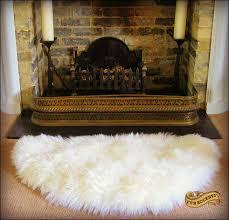 White Sheepskin Rugs Fur Accents Thick White Shag Sheepskin Rug Half Round Thick
