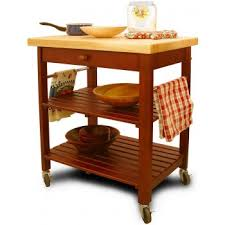 Catskill Craftsmen RollAbout  Rolling Kitchen Island - Kitchen cart table